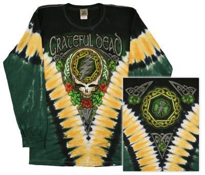 Long Sleeve: Grateful Dead - Gd Shamrock V-dye