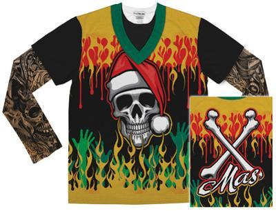Long Sleeve: Heavy Metal Xmas w/Tattoos Tee
