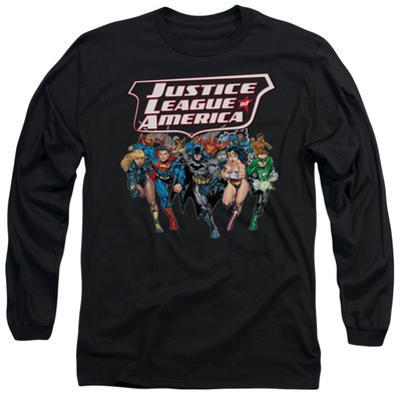 Long Sleeve: Justice League - Charging Justice