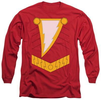 Long Sleeve: Justice League - Shazam Costume Tee