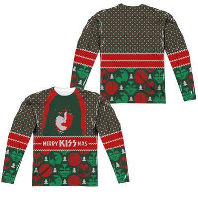 Long Sleeve: Kiss- Starchild Kissmas Sweater (Front/Back)