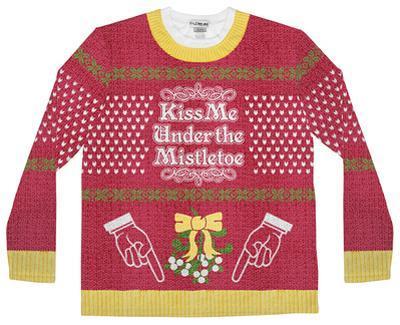 Long Sleeve: Mistle Toe Ugly Sweater (Front/Back)