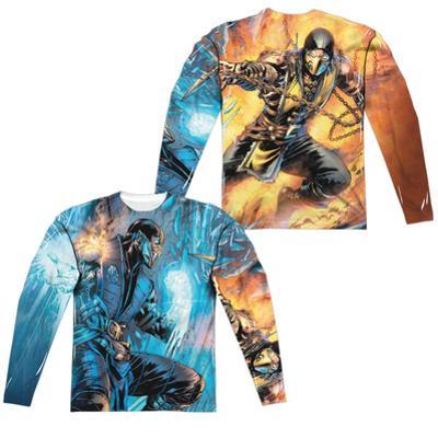 Long Sleeve: Mortal Kombat- Sub Zero Vs. Scorpion (Front/Back)