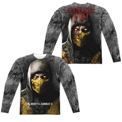 Long Sleeve: Mortal Kombat X- Finish Him (Front/Back)
