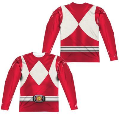 Long Sleeve: Power Rangers- Red Ranger (Front/Back)