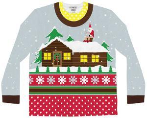 Long Sleeve: Santa on Break Ugly Xmas Sweater