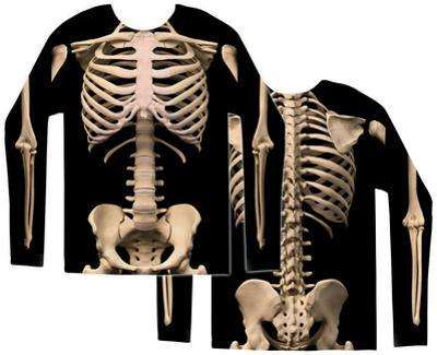 Long Sleeve: Skeleton Costume Tee