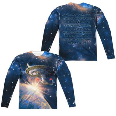 Long Sleeve: Star Trek:Next Generation- Galaxy Class (Front/Back)