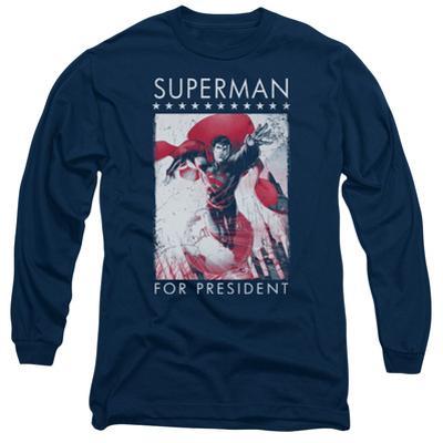 Long Sleeve: Superman- Hero For President