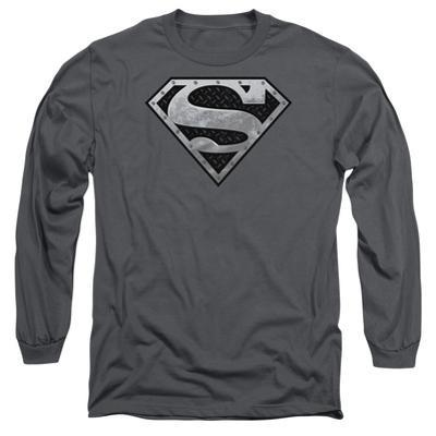 Long Sleeve: Superman - Super Metallic Shield