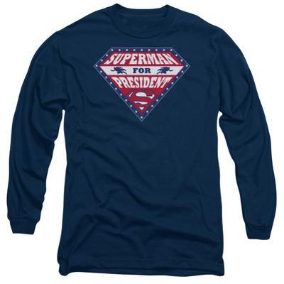Long Sleeve: Superman- Superman For Preseident Shield
