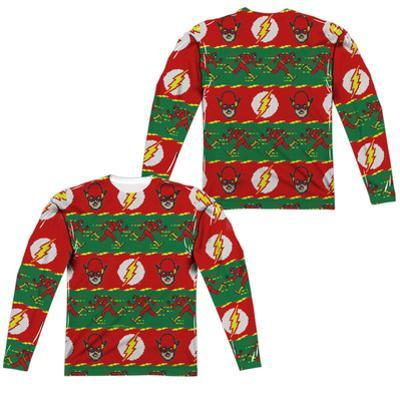 Long Sleeve: The Flash- Flashy Ugly Sweater (Front/Back)
