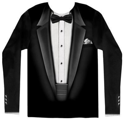 Long Sleeve: Tuxedo Costume Tee