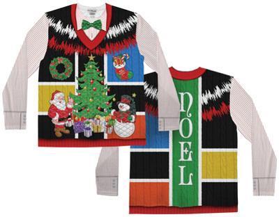 Long Sleeve: Ugly Noel Xmas Vest w/Bow Tie Tee