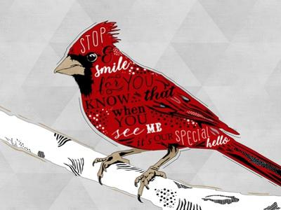 Cardinal Hello White by Longfellow Designs