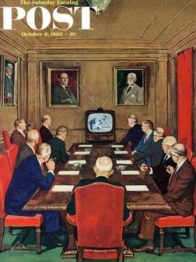 """Baseball in the Boardroom,"" Saturday Evening Post Cover, October 8, 1960 by Lonie Bee"