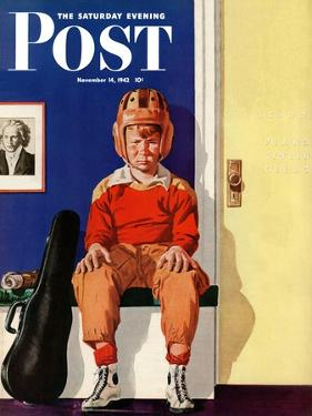 """""""Musical Sport,"""" Saturday Evening Post Cover, November 14, 1942 by Lonie Bee"""