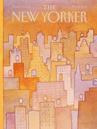 The New Yorker Cover - April 27, 1981