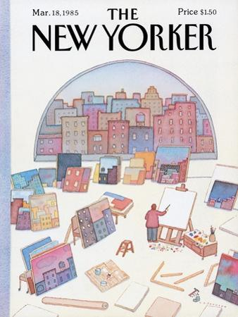 The New Yorker Cover - March 18, 1985