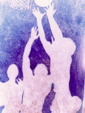 Silhouette of Basketball Game by Lonnie Duka