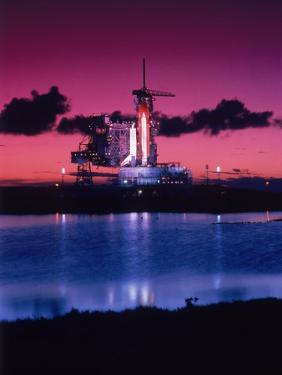 Space Shuttle Atlantis by Lonnie Duka