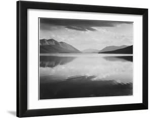Looking Across Lake Toward Mts Evening McDonald Lake Glacier National Park Montana 1933-1942