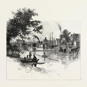 Looking Up the Thames, Chatham, Canada, Canada, Nineteenth Century