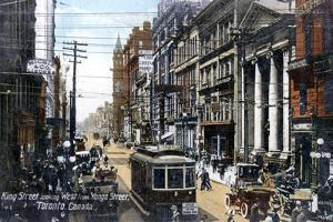 Looking West Along King Street, Toronto, Canada, C1900s