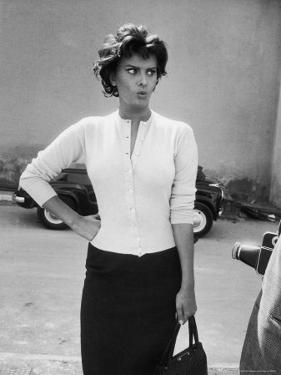 Actress Sophia Loren Displaying a Wide Range of Emotions by Loomis Dean