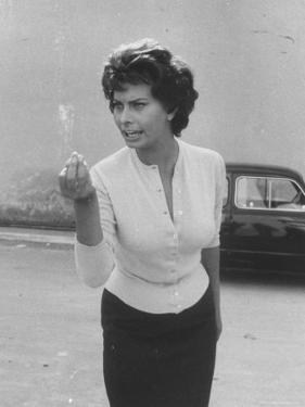 Actress Sophia Loren Displaying a Wide Range of Emotions by Loomis Dean