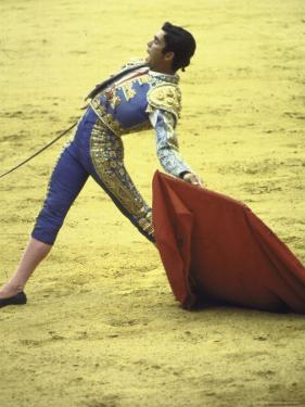 """Bullfighter Francisco Ribera, Known as """"Paquirri,"""" Leaning Back in the Ring by Loomis Dean"""