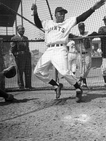 Giants Baseball Player Willie Mays Playing Pepper at Phoenix Training Camp by Loomis Dean