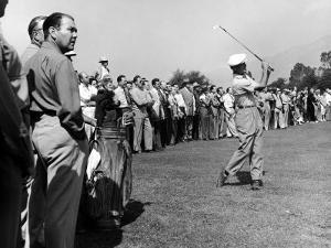 Golfer Ben Hogan, Playing in a Golf Tournament by Loomis Dean