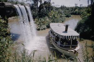 July 17 1955: Disneyland's Jungle Cruise Featuring Audio-Animatronics Animals, Anaheim, California by Loomis Dean
