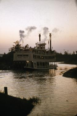 July 17 1955: Disneyland's Mark Twain River Boat, Anaheim, California by Loomis Dean