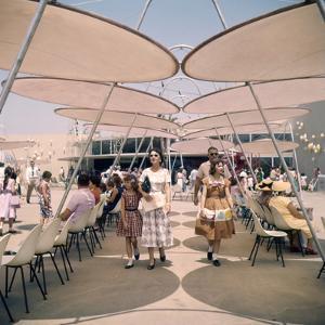 July 17 1955: Tomorrowland's Space Port in Disneyland Amusement Park, Anaheim, California by Loomis Dean