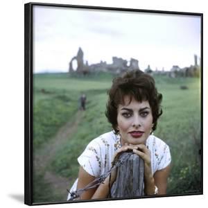 Portrait of Actress Sophia Loren by Loomis Dean