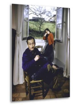 Portrait of Painter Balthus and His Niece Frederique Tison at the Chateau De Chassy by Loomis Dean