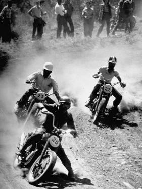 Riders Enjoying Motorcycle Racing by Loomis Dean