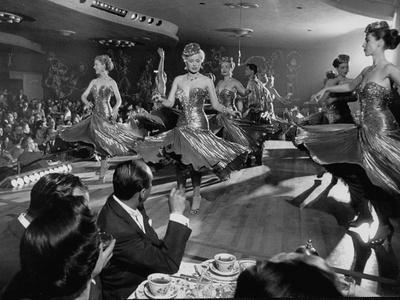 Sparkling Girls Dancing on Stage During the Las Vegas Nightlife Boom