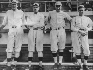 Undated of Baseball Players Ernie Shore, Babe Ruth, Carl Mays, and Dutch Leonard by Loomis Dean