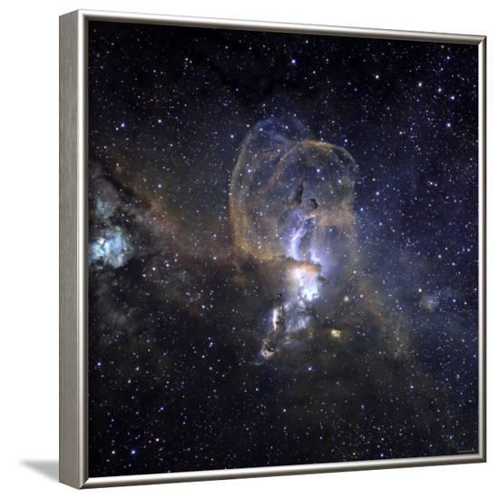 Loops of NGC 3576-Stocktrek Images-Framed Photographic Print