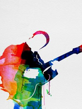 BB King Watercolor by Lora Feldman