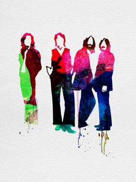 Beatles Watercolor by Lora Feldman