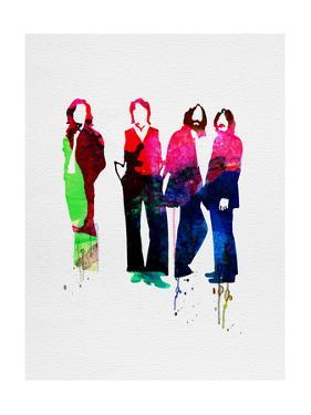 Beatles Watercolor by Lora Feldman