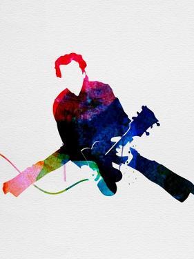 Chuck Watercolor by Lora Feldman