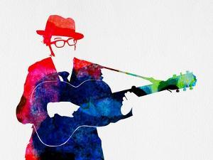 Elvis Watercolor by Lora Feldman