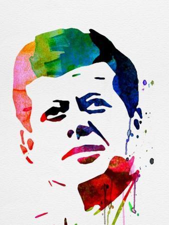 JFK Watercolor by Lora Feldman