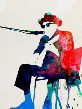 John Lee Hooker Watercolor by Lora Feldman