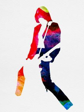 Johnny Watercolor by Lora Feldman